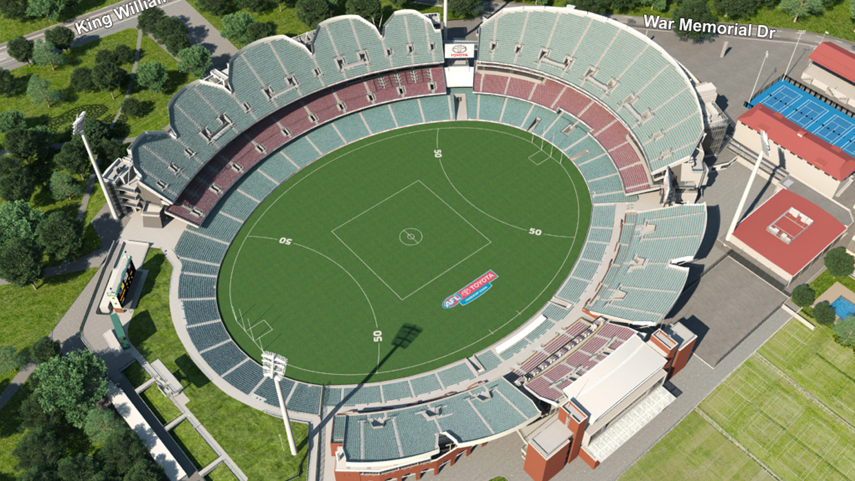 Adelaide Oval Seating Map Adelaide Crows Virtual Venue™ by IOMEDIA Adelaide Oval Seating Map